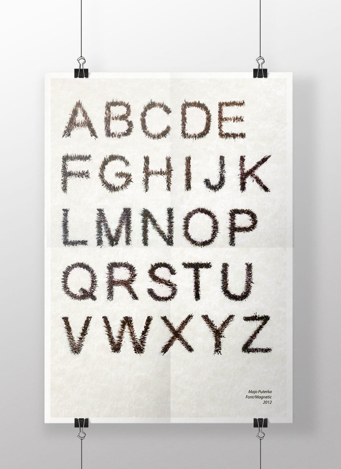 magnetic - Side project na dnes – Písmo zo železných pilín
