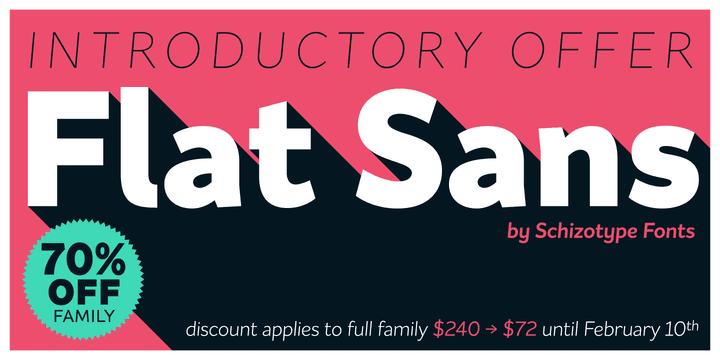 8e8d95ac3e7752aa13e3f05f12b68640 - Font dňa – Flat Sans (zľava 70%, 9,90€)