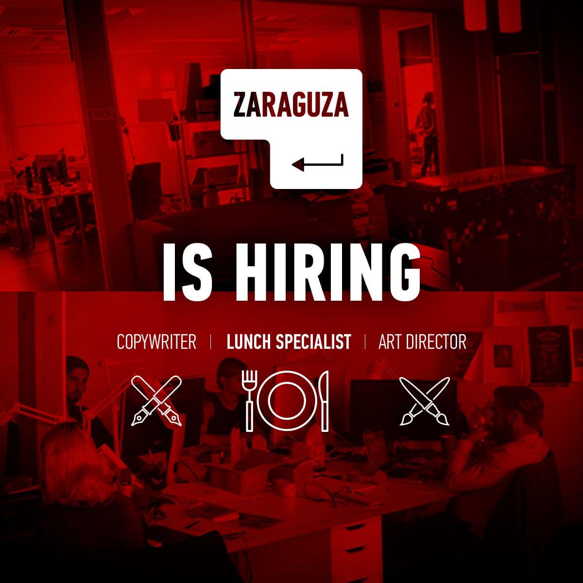 47d99558538f56f685a3c1dce9e6ef43 - ZARAGUZA obsadzuje nový kreatívny team: copywriter, art director, account, grafik, seeder