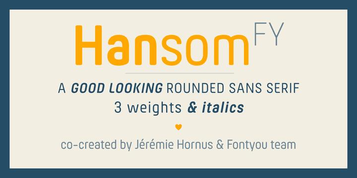 148523 - Font dňa – Hansom FY (zľava 50%, od 12,50€)