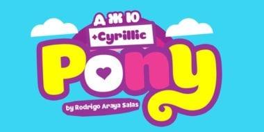 136078 380x190 - Font dňa – Pony (20,50€)