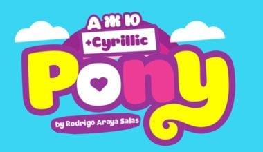 136078 380x220 - Font dňa – Pony (20,50€)