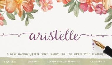 167314 380x220 - Font dňa – Aristelle (od 7,99€)