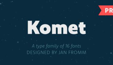 170027 380x220 - Font dňa – Komet Pro (od 25€)