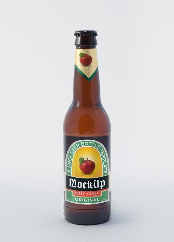 beer bottle psd mockup 600 - Mockup pivnej fľaše zadarmo!
