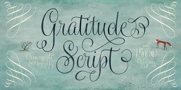 169357 - Font dňa – Gratitude Script