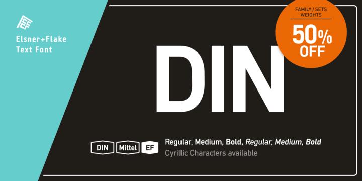 172538 - Font dňa – DIN Mittel EF