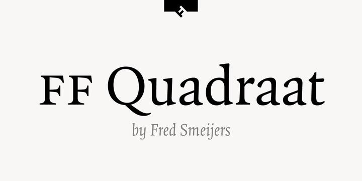 109128 - Font dňa – FF Quadraat