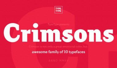 175589 1 380x220 - Font dňa – Crimsons