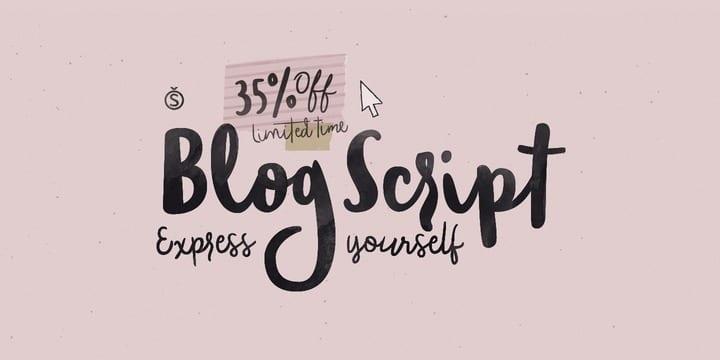 179588 - Font dňa – Blog Script