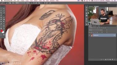 1 remove tattoo in photoshop 380x213 - Tutorial – Ako odstrániť tetovanie v PS