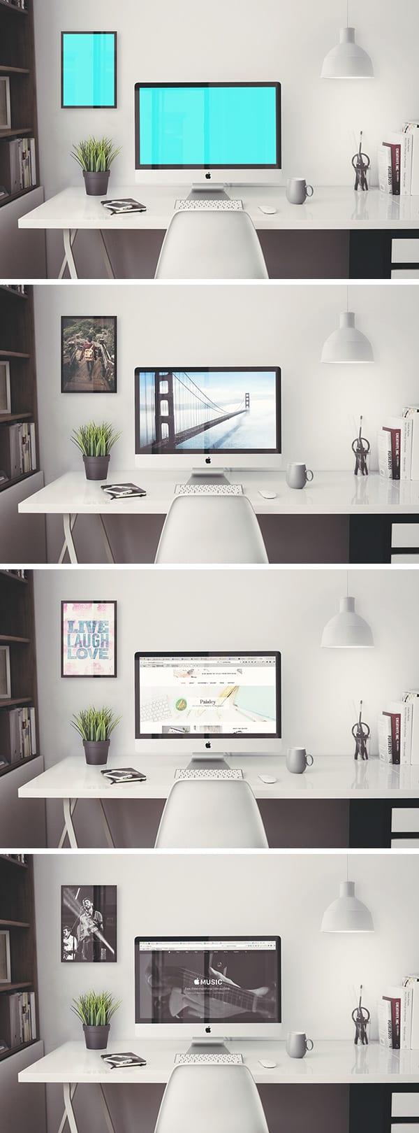 imac retina mockup 600 - Mockup pracovného stola s iMac Retina 5k zadarmo!