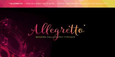 184581 380x190 - Font dňa – Allegretto Script