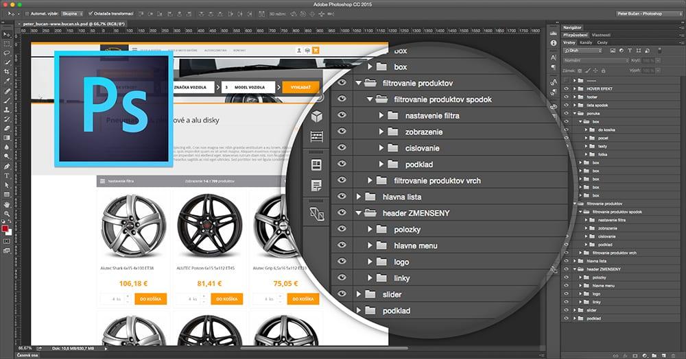Dobrý dizajnér - 01. prehľadné vrstvy - Photoshop
