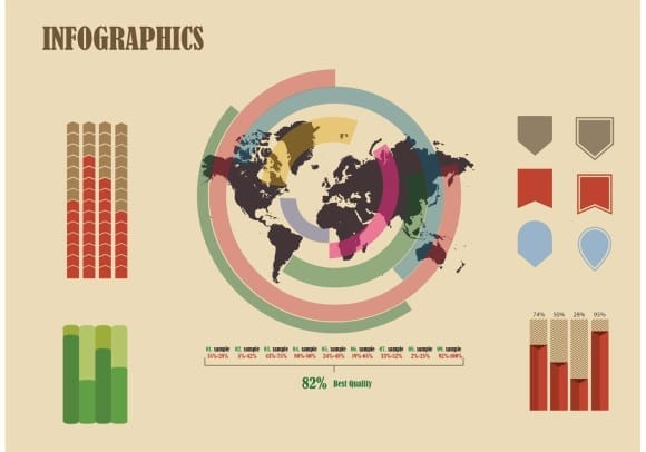 free-vector-infographic-with-world-map