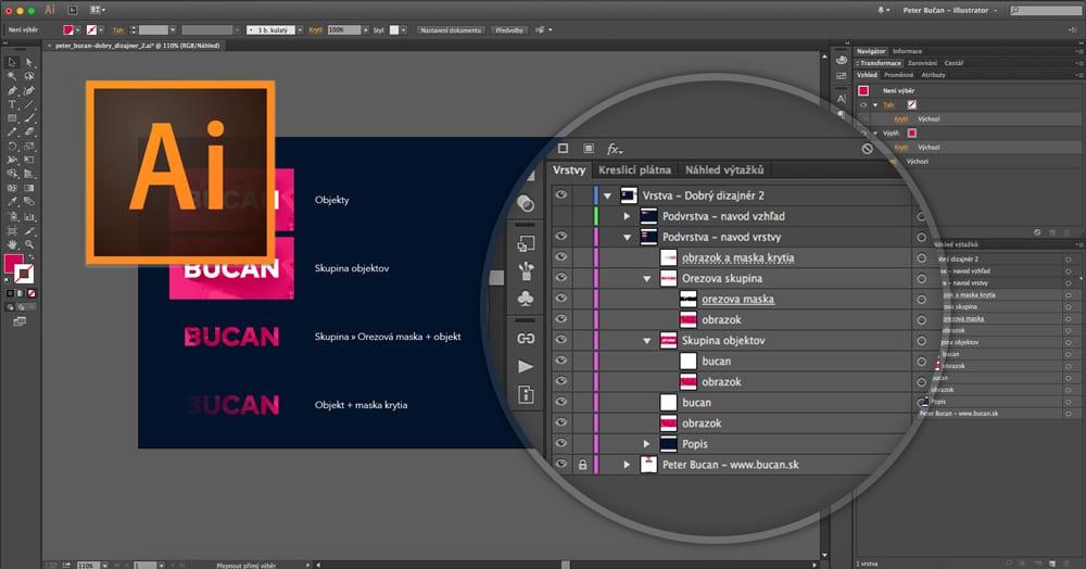 Dobrý dizajnér - 02. vrstvy avzhľad - Náhľad vrstiev