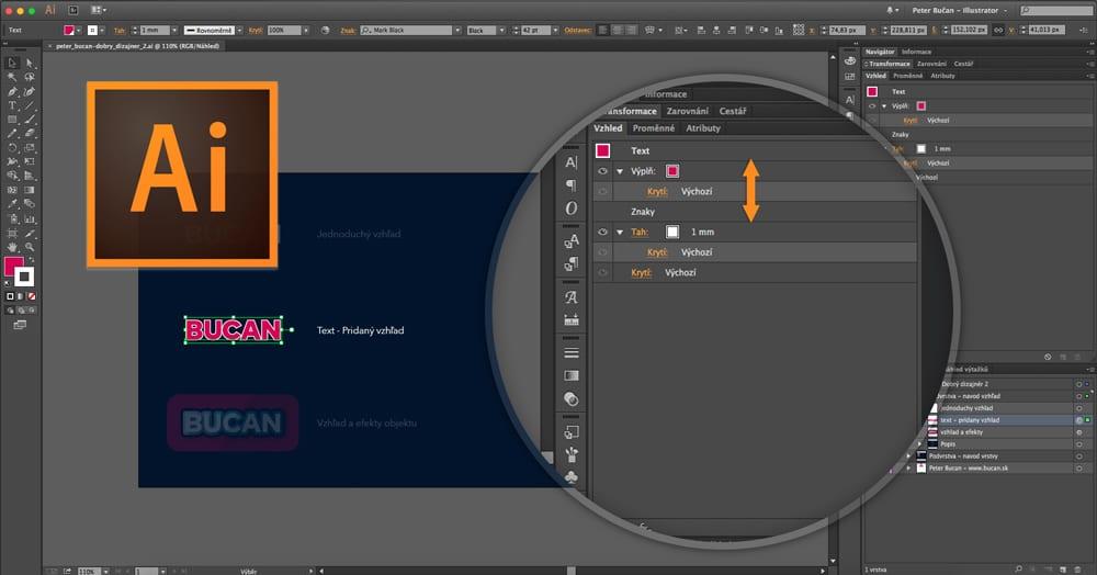 Dobrý dizajnér - 02. vrstvy avzhľad - Text a vzhľad