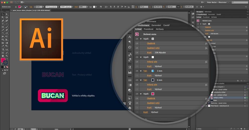 Dobrý dizajnér - 02. vrstvy avzhľad - Vzhľad a efekty