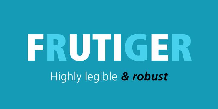 183207 - Font dňa – Frutiger