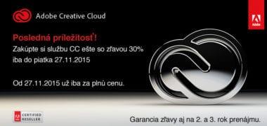 adobe cc2015 380x180 - Posledná príležitosť na zvýhodnený prenájom Adobe Creative Cloud so zľavou 30%
