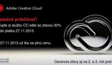 adobe cc2015 380x220 - Posledná príležitosť na zvýhodnený prenájom Adobe Creative Cloud so zľavou 30%