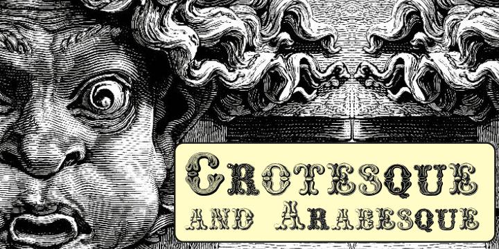 34792 - Font dňa – Grotesque And Arabesque