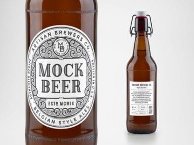 artisan beer bottle mockup 600 380x284 - Mockup pivnej fľaše zadarmo!