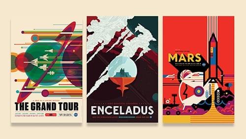 nasa posters blog - Plagáty NASA, ktoré lákajú na kozmický výlet