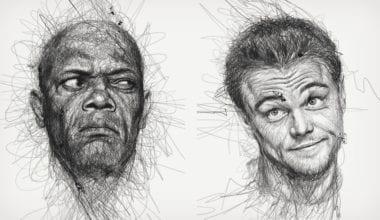 scribble portraits 1 380x220 - Celebritné portréty nakreslené štýlom, ktorý nepochopíte