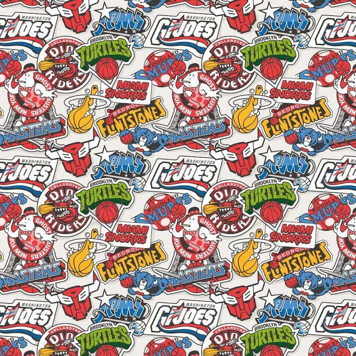 nbaxtoons pattern - Keď NBA stretne Looney Tunes