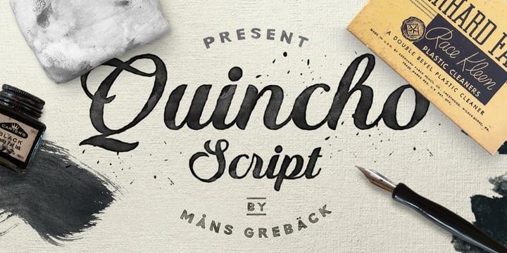 201666 - Font dňa – Quincho Script