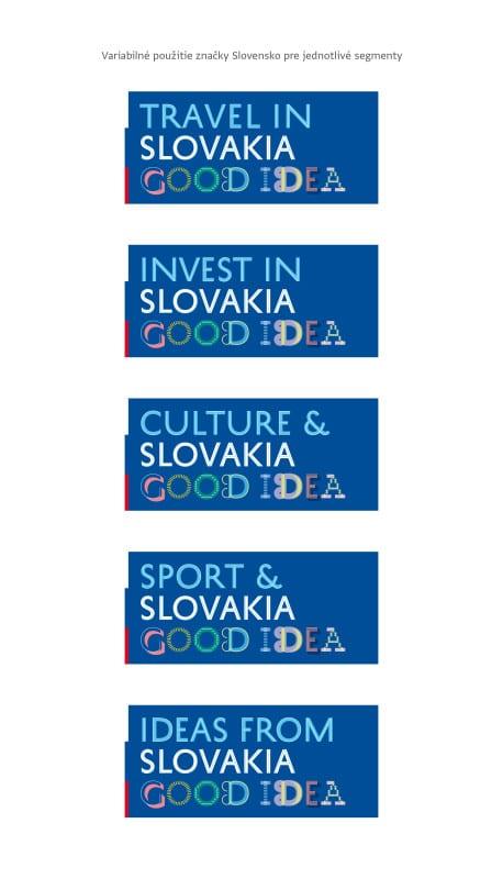 Loga znacky Slovensko - segmenty