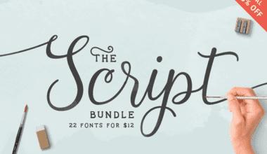 cover 1 380x220 - Script Fonts Bundle so zľavou 93%!
