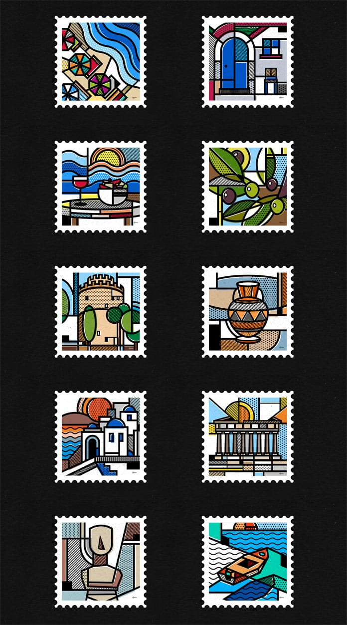 1-Destination-Greece-a-stamp-collection-by-Mike-Karolos