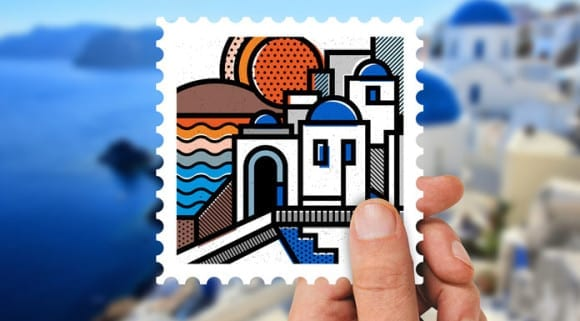 side project dnes destination greece destination greece a stamp collection by mike karolos 580x321 - Side project na dnes: Destination Greece