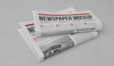 01 Newspaper Mockup 380x220 - Stiahnite si kvalitný mockup novín za 11 dolárov!