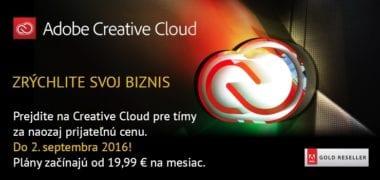 ADOBECC 380x180 - Letné PROMO Adobe – zľava 33% na Adobe Creative Cloud pre tímy