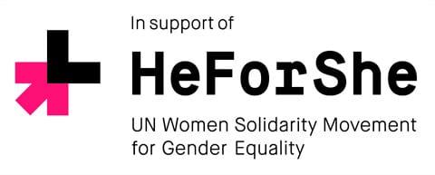 note logo HeForShe - Feminizmus na tričku Usaina Bolta