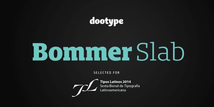 137850 - Font dňa – Bommer Slab