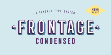 212157 380x190 - Font dňa – Frontage Condensed