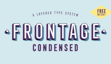 212157 380x220 - Font dňa – Frontage Condensed