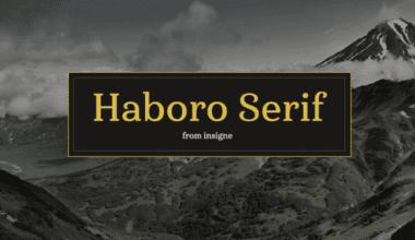 213100 380x220 - Font dňa – Haboro Serif