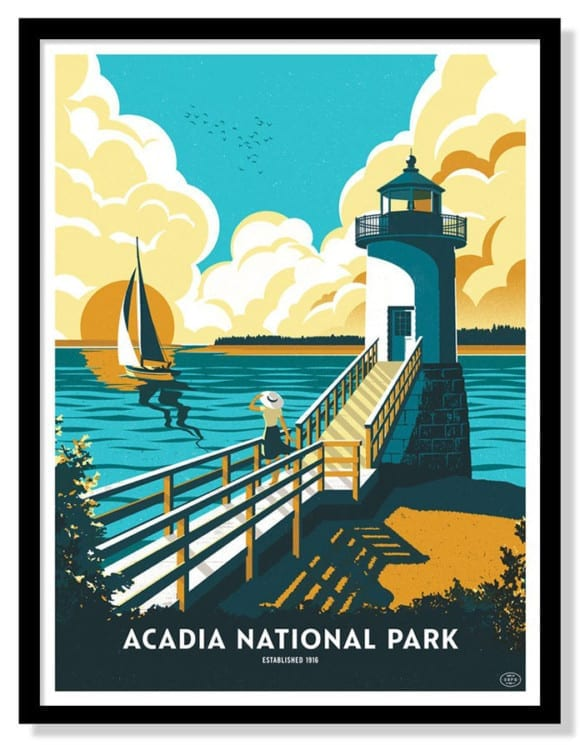 acadia-national-park-six-color-screen-printed-poster-by-telegramme-paper-co