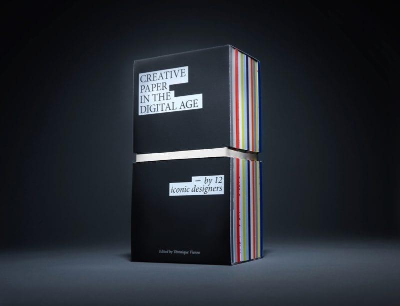 """BO12 totem 800x613 - """"Kniha dvanástich"""" od spoločnosti Antalis: 12 medzinárodných grafických návrhárov predstavuje svoju víziu trvalého významu papiera v digitálnom veku."""