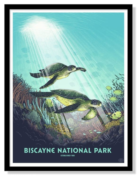biscayne-national-park-silk-screen-print-by-justin-santora