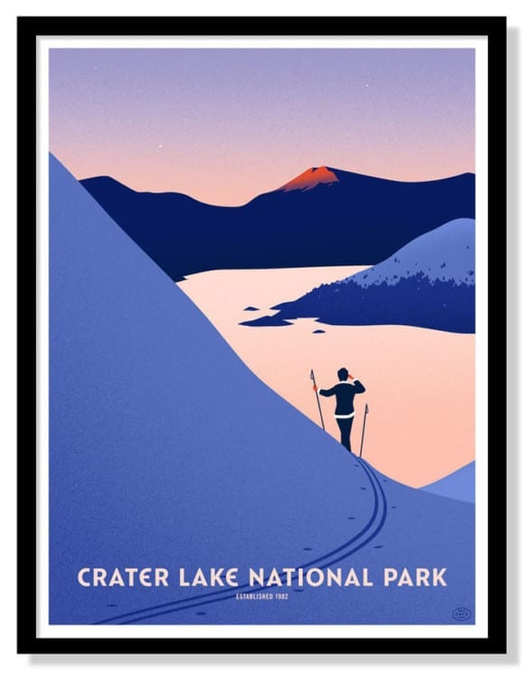 crater-lake-national-park-10-color-screen-printed-poster-by-thomas-danthony
