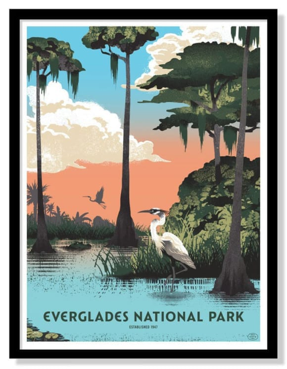 everglades-national-park-six-color-screen-printed-poster-by-two-arms-inc