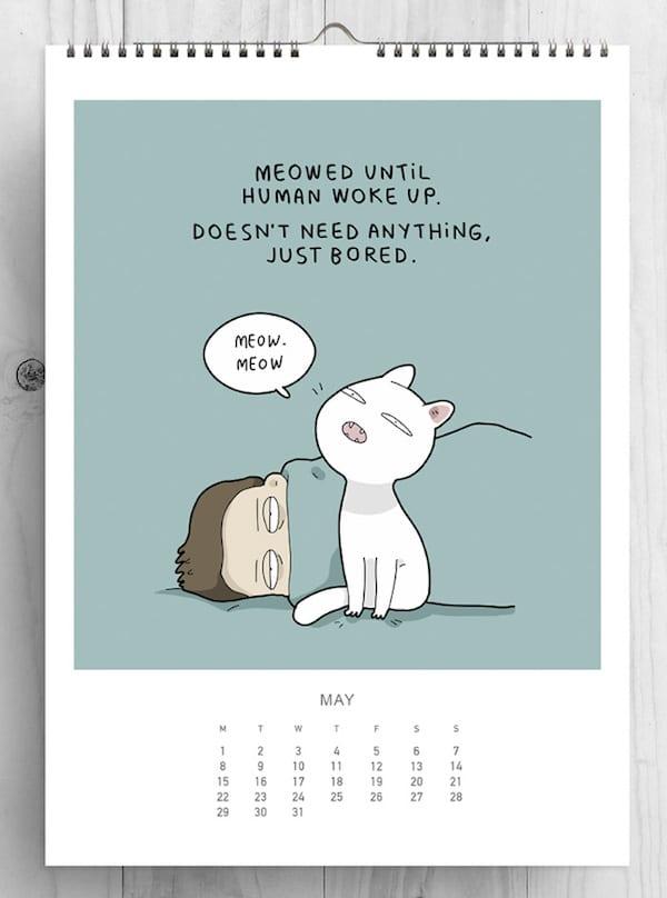 1 Cat Lovers 2017 cat calendar lingvistov - Landys vytvoria kalendár pre milovníkov mačiek