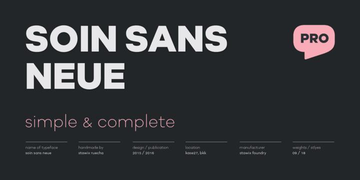 216542 - Font dňa – Soin Sans Neue