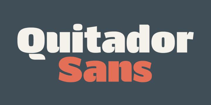 218404 - Font dňa – Quitador Sans